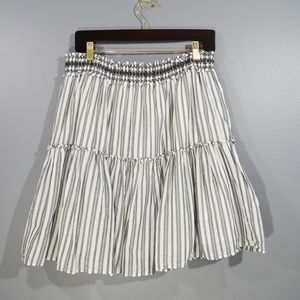 KATE SPADE BROOM STREET Stripe Tiered Short Skirt